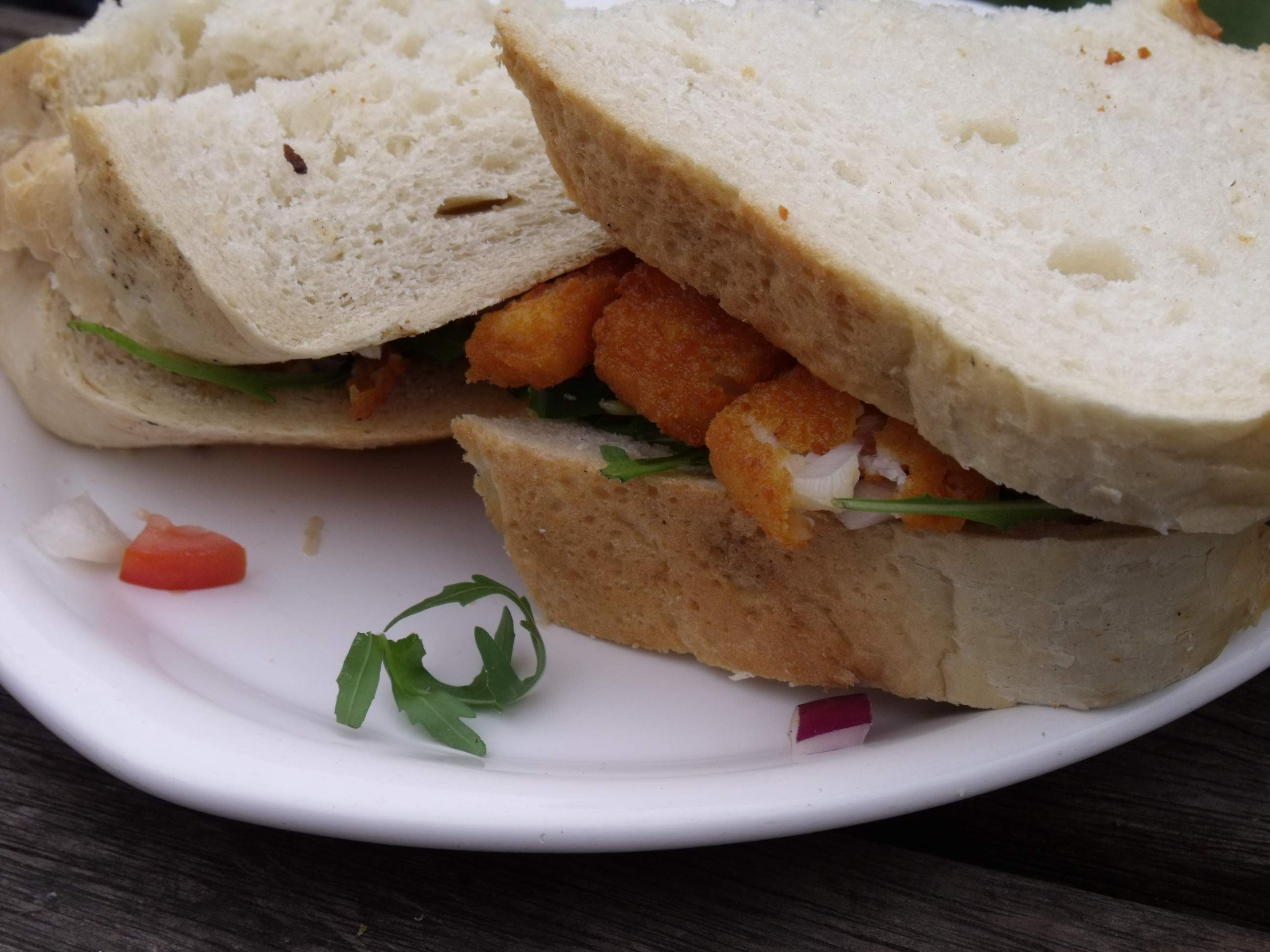 Life afloat on narrowboat audrey too boating on the for Good fish sandwich near me