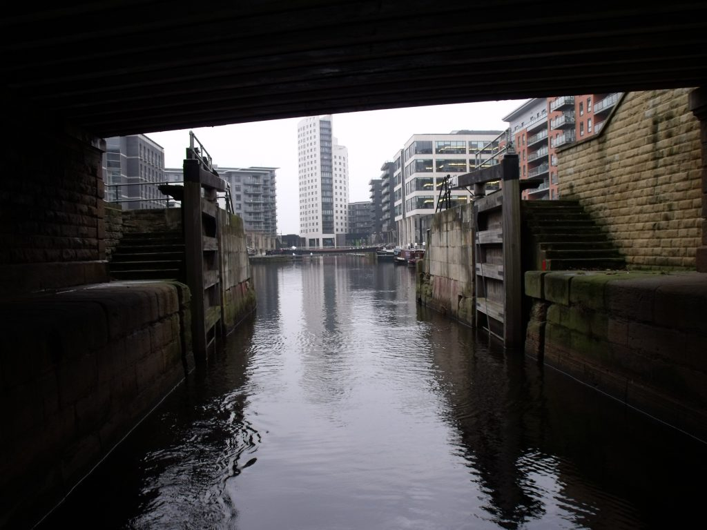Flood gate at Clarence Dock, Leeds