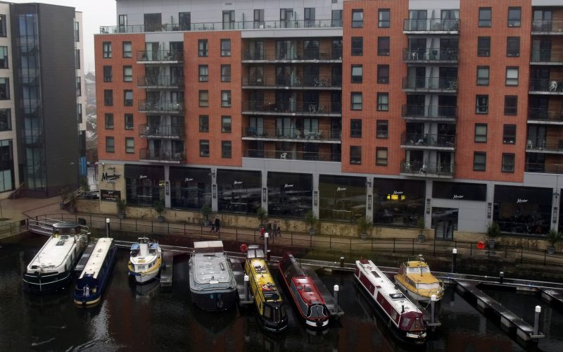 Moorings at Clarence Dock, Leeds