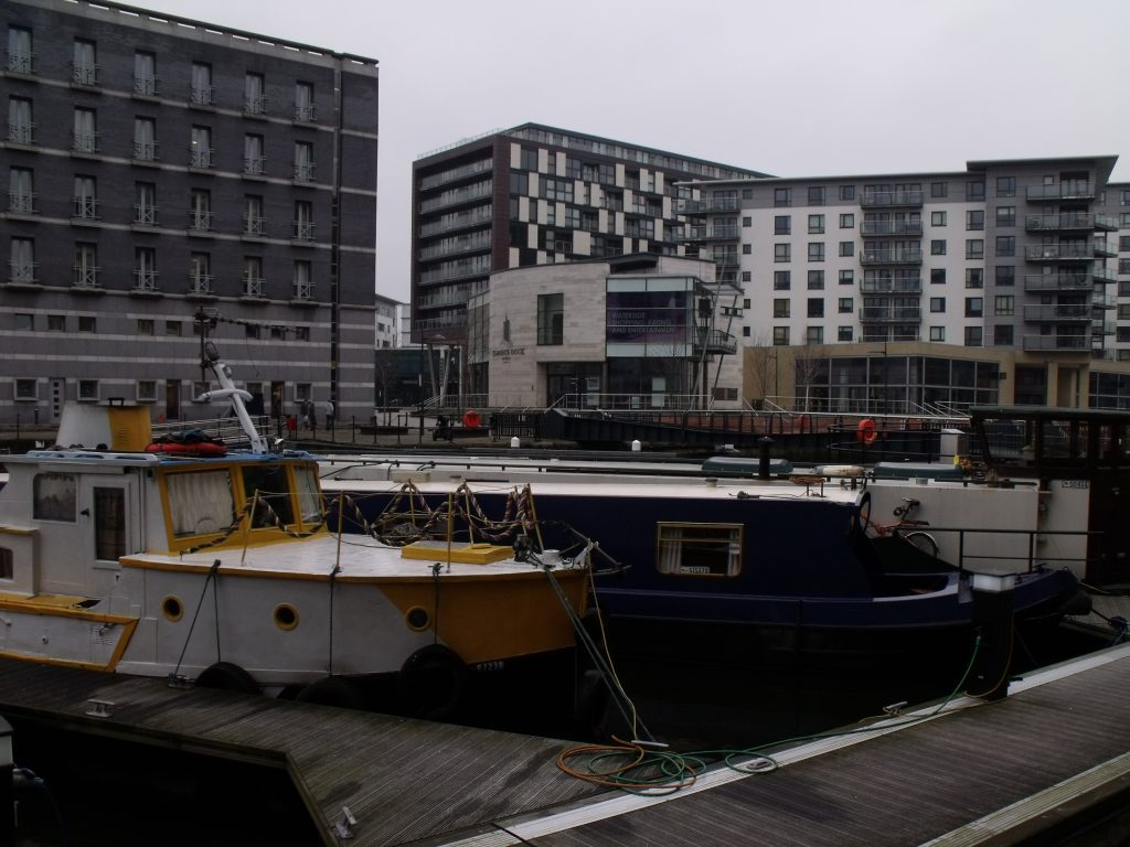 On moorings at Clarence Dock