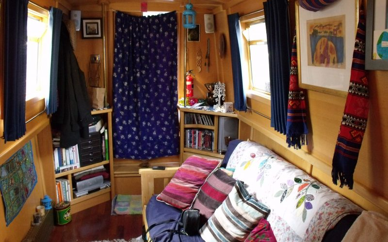 Narrowboat Audrey Too's living room