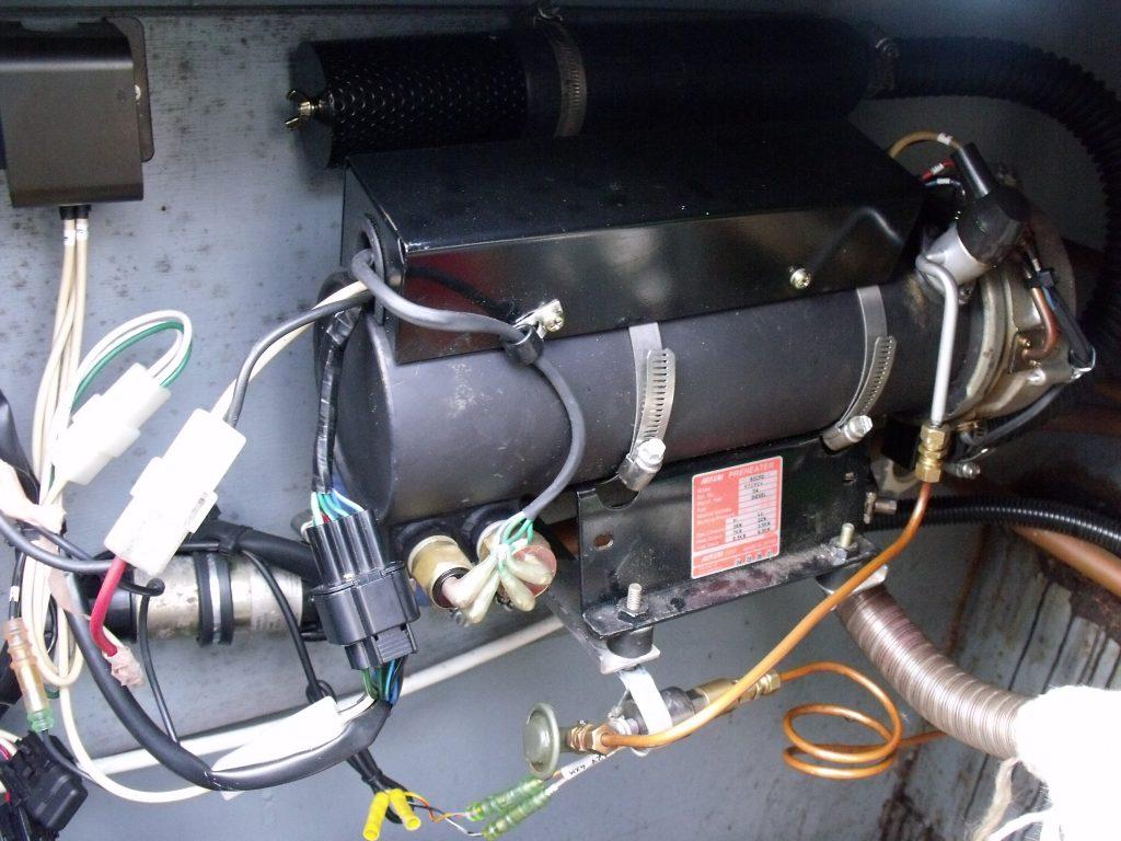 Mikuni Diesel heater in narrowboat