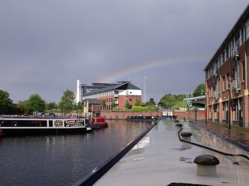 Rainbow in Victoria Quays, Sheffield